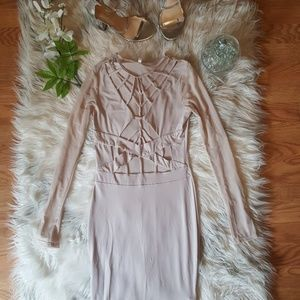 Long sleeve cut out bodycon Dress